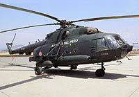 Helicopter-DataBase Photo ID:8019 Mi-17-1V EP-604 Peruvian army aviation armed with the HMP-250A1DC gun pod