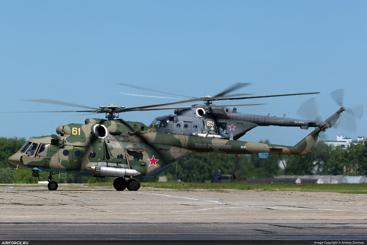 Mi-8AMTSh   61 yellow