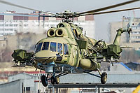 "Helicopter-DataBase Photo ID:14384 Mi-8AMTSh-V ""Bosfor-2"" Russian Air Force 7507 yellow cn:8AMTS00643147507U"