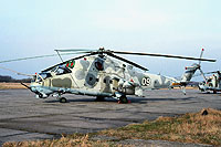Helicopter-DataBase Photo ID:15443 Mi-24V 55th Independent Helicopter Regiment 09 white cn:3532423707260