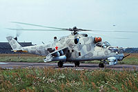 Helicopter-DataBase Photo ID:15449 Mi-24K 487th Independent Combat Helicopter Regiment 18 blue cn:3532014711857