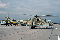 Helicopter-DataBase Photo ID:13331 Mi-24P 337th Independent Combat Helicopter Regiment 33 yellow cn:3532434216881