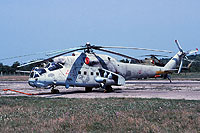 Helicopter-DataBase Photo ID:15633 Mi-24RCh 9th Independent Helicopter Squadron 40 red cn:3534624511272