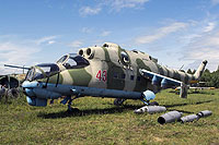 Helicopter-DataBase Photo ID:12866 Mi-24K Museum Barnaul-Lesnoi 43 red cn:3532014511049