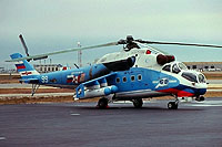 Helicopter-DataBase Photo ID:16805 Mi-24V Soviet Army Aviation 99 white