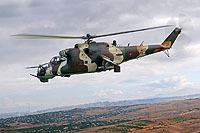 Helicopter-DataBase Photo ID:15813 Mi-24K Armenian Air Force 46 blue