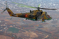 Helicopter-DataBase Photo ID:16466 Mi-24RCh Armenian Air Force 48 blue
