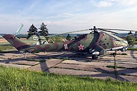 "Helicopter-DataBase Photo ID:13391 Mi-24P Museum ""Stalin Line"" 11 white"