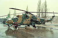 Helicopter-DataBase Photo ID:16777 Mi-24D 33rd Helicopter Base 0221 cn:340221