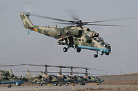 "Helicopter-DataBase Photo ID:15628 Mi-24VM-3 with system L-370 ""Vitebsk"" Russian Aerospace Force 44 blue"