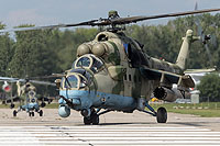 "Helicopter-DataBase Photo ID:14742 Mi-24VM-3 with system L-370 ""Vitebsk"" Russian Air Force RF-13027 cn:34075817157"