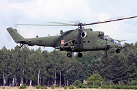 Helicopter-DataBase Photo ID:12577 Mi-24V (upgrade by Terma) 56th Combat Helicopters Regiment 729 cn:410729
