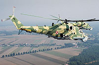 Helicopter-DataBase Photo ID:6077 Mi-24V 56th Combat Helicopters Regiment 735 cn:410735