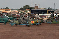 Helicopter-DataBase Photo ID:12824 Mi-24V Central African Air Force TL-KND cn:3532424913976