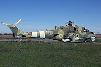 Helicopter-DataBase Photo ID:14246 Mi-24K Ukrainian Army Aviation 14 red
