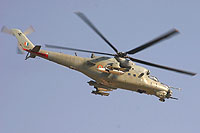 "Helicopter-DataBase Photo ID:7561 Mi-35 ""MIssion 24"" Indian Air Force Z3131 cn:110943"