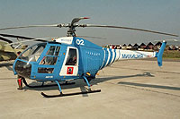 Helicopter-DataBase Photo ID:17577 Mi-34 Moscow Police 02 white cn:978300..02004
