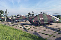 "Helicopter-DataBase Photo ID:13385 Mi-8SMV Museum ""Stalin Line"" 87 white cn:9767104"