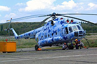Helicopter-DataBase Photo ID:5624 Mi-8T Turkmenistan Border Guard 47 blue