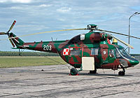 Helicopter-DataBase Photo ID:4125 PZL W-3 RR  Procjon 66th Aviation Wing 203 cn:300203